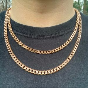 Rose Gold Cuban Link Chain 6mm